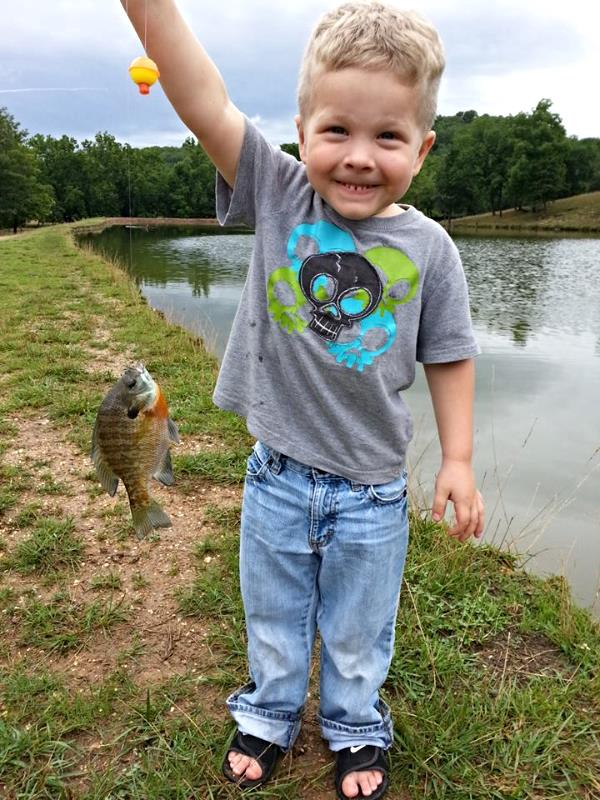 Kid Fishing at High Adventure Ranch